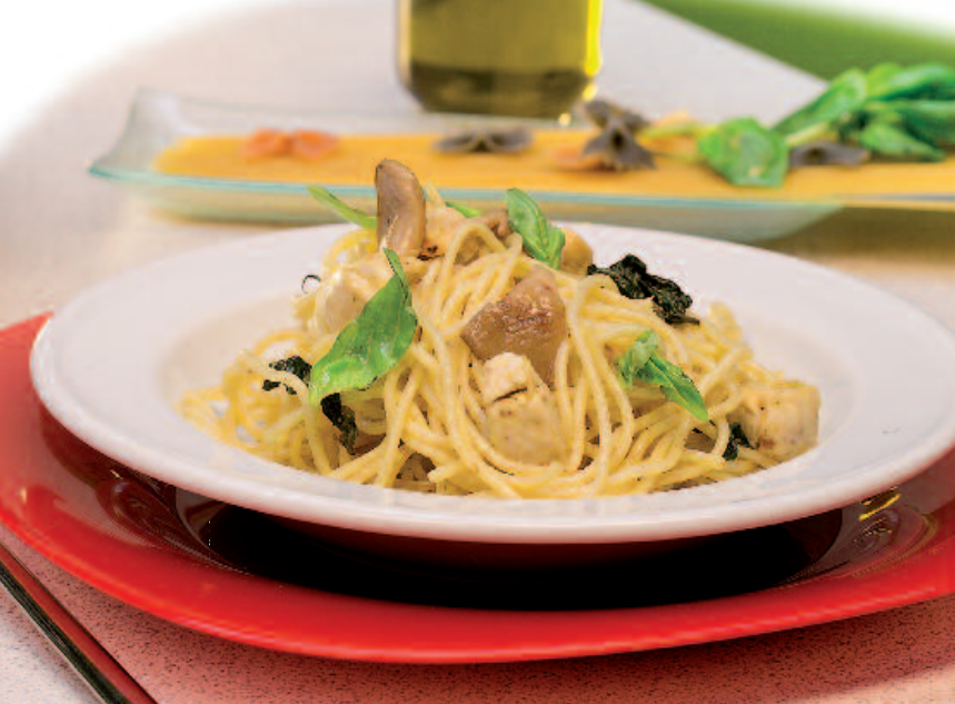 Receta de aprovechamiento: Espaguetis con pollo al curry